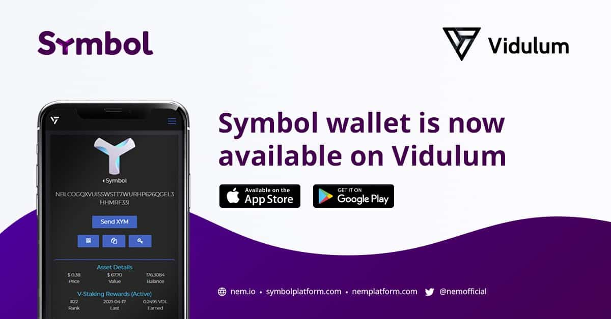 Symbol Wallet on Vidulum